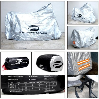 Proformance Bike Cover XXL Size (Fits Superbike Bike With Box & Carrier Attached)