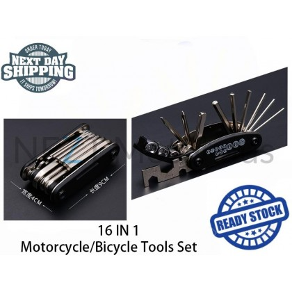 16 IN 1 Motorcycle / Bicycle Tools Set