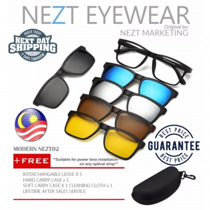6 in  1 Original Modern TR Frame Nezt02 Magnetic Snap-On Glasses