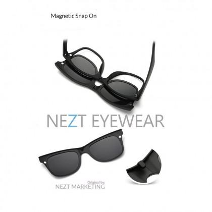 6 in 1 Retro Frame Nezt08 Magnetic Snap-On Glasses