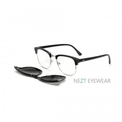 6 in 1  Magnetic Snap-On Glasses Clubmaster Vintage Frame Nezt18