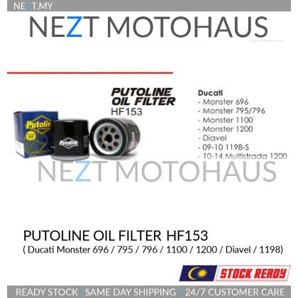 Putoline Oil Filter HF153 Ducati Monster 696 795 796 1100 1200 Diavel Multistrada Hypermotard