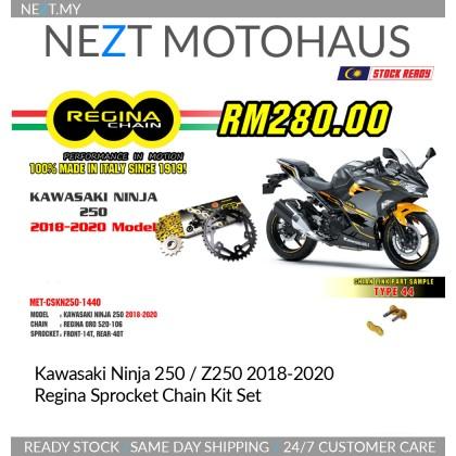 Kawasaki New Ninja 250 / Z250 2018-2020 Regina Sprocket Chain Kit Set