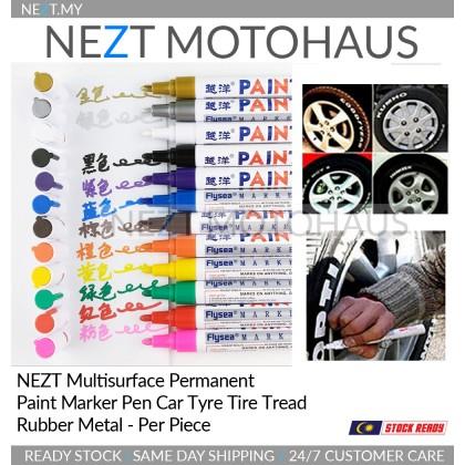 NEZT Multisurface Permanent Paint Marker Pen Motor Car Tyre Bomb Tire Tread Rubber Metal