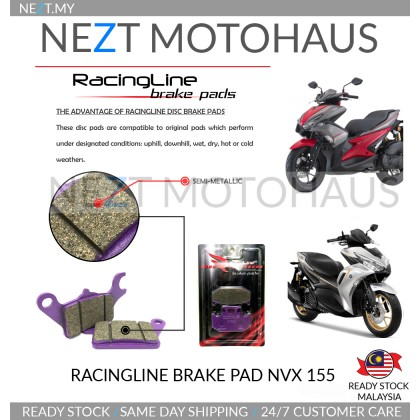Yamaha NVX155 V1 V2 Racingline Brake Pad Depan Ready Stock