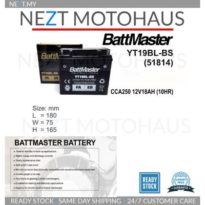 Battmaster YT19BL-BS 51814 BMW AGM BATTERY R1200RT R1100GS R1150GS K1200